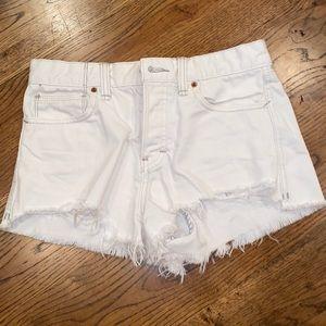 White FREE PEOPLE denim cut off shorts